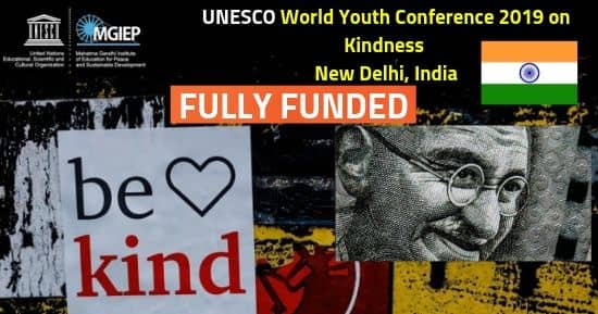 World Youth Conference 2019 on Kindness [Fully Funded] India, UNESCO