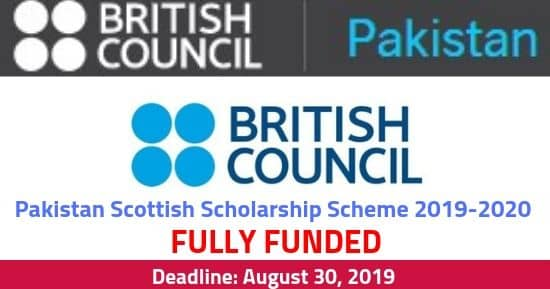 Pakistan Scottish Scholarship Scheme 2019-2020 [Fully Funded]
