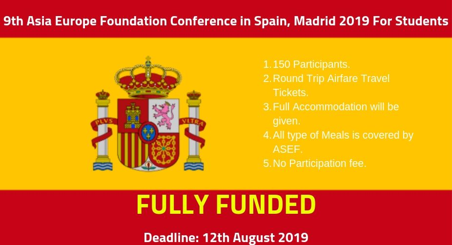 ASEF Conference in Spain 2019 (FULLY FUNDED) - Asia Europe Foundation