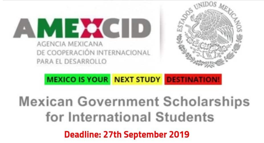 Mexico Government Scholarship 2020 for International