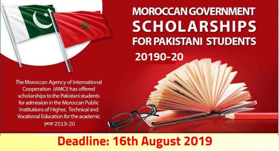 Morocco Government Scholarships For Pakistani Students 2019-20
