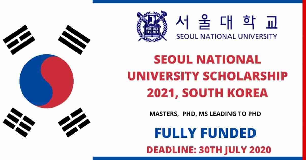 Seoul National University Scholarship in South Korea 2021 ...