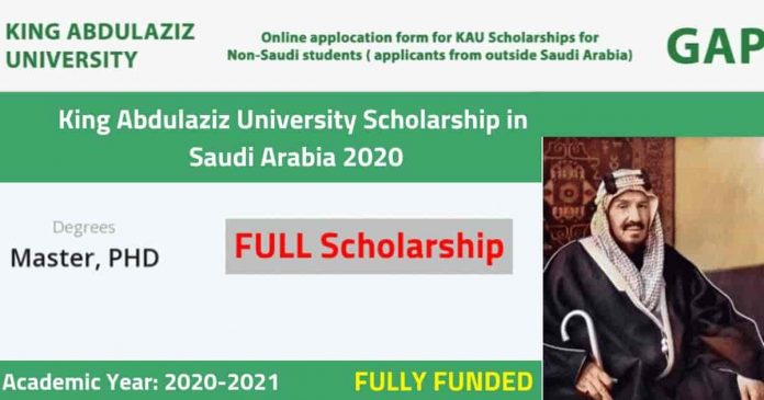 King Abdulaziz University Scholarship for International ...
