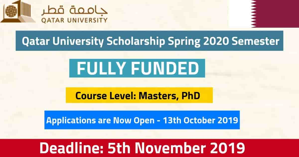 2020 Qatar University Scholarship For International Students (Fully Funded)