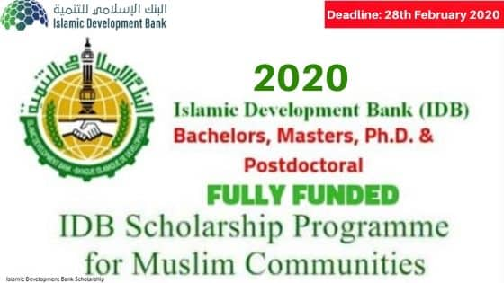 Islamic Development Bank Scholarship 2020 Fully Funded Apply Now Opportunities Corners