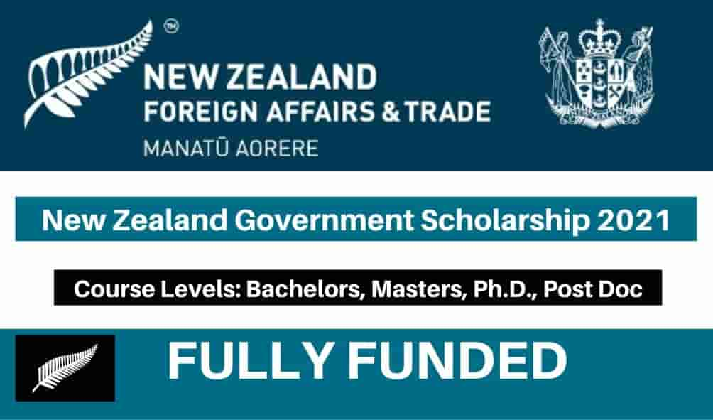 New Zealand Government Scholarship 2021 (Fully Funded ...