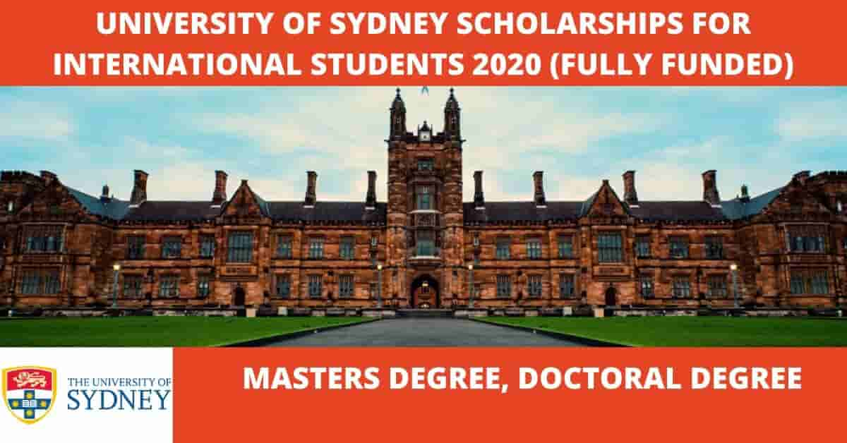 University of Sydney Scholarships for International ...